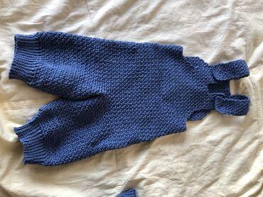 детские обувь в Кыргызстан: Детский вязанный комбинизон на 6-18 месяцев. Цвет джинцы, отлично