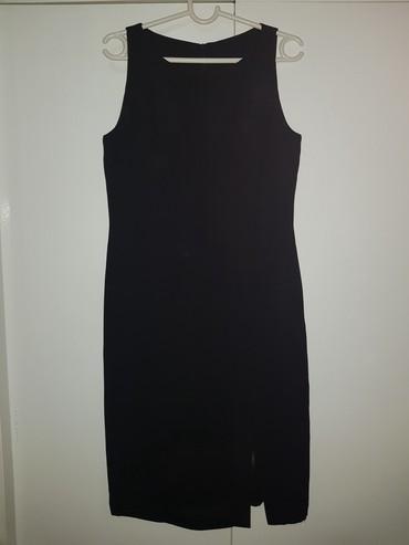 Crna mala haljina sa slicem, jednom obucena, M-L ( 38-40) - Belgrade