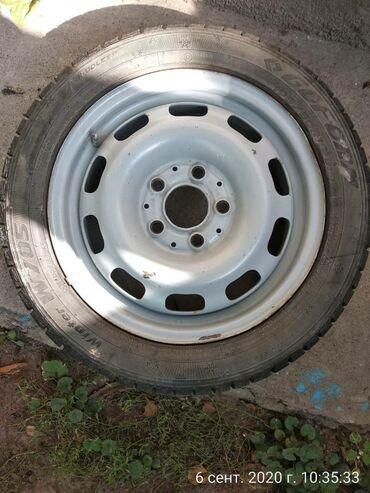 диски колесные стальные r15 ниссан патрол в Кыргызстан: Продается комплект резины зимней с дисками.112х5 R15.Либо меняю ?5 R15