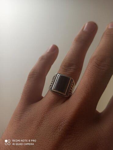 Украшения - Кок-Ой: Продаю кольцо мужскойе бетинде ташы чийилбейт срочно  Серебро