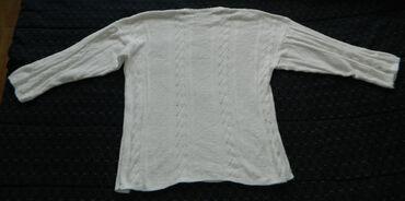 Personalni proizvodi - Cacak: Pamučna bela bluza dugi rukav veličina L dužina 63cm, dužina unutrašnj