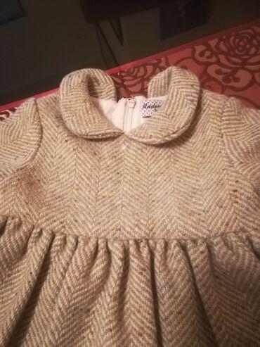 Duks haljina - Crvenka: Haljinica od tvida za devojcice od 3 god