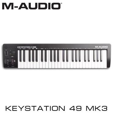 Синтезаторы в Кыргызстан: Миди-клавиатура M-Audio Keystation 49 MK3 относится к обновленной