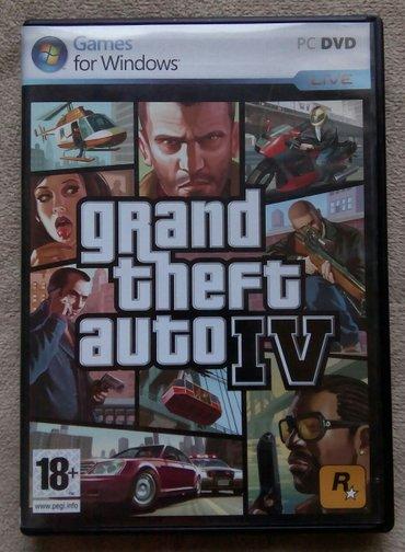 Igrica za PC Grand Theft Auto IV, korišćena i očuvana.Preuzimanje - Beograd