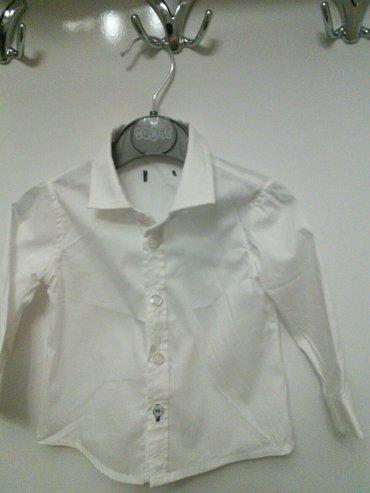 детские водолазки в Азербайджан: Ваbya детская белая рубашка на 3месяца 100%cooton б/у