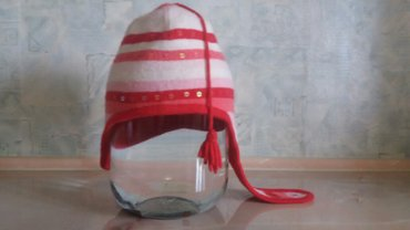 """Детские флис - Кыргызстан: Детская шапка для девочки, деми""""SeLa"""",на 1-3"""