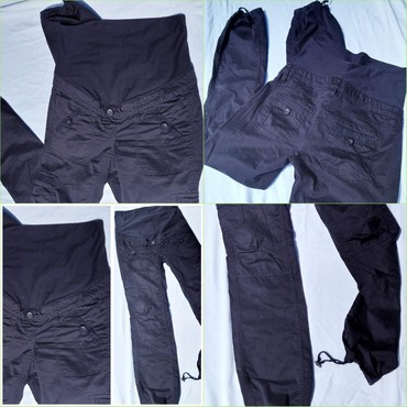 Crne pantalone sa dzepovima - Srbija: NOVE H&M MAMA URBANE S/MPrelepe,crne,urbane sa dzepovima pantalone