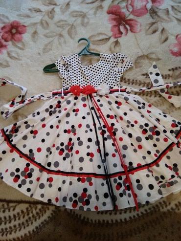 Нарядное платье для девочки 2-2,5 года . Ткань х/б. в Бишкек
