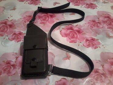 Сотовый телефон lenovo - Кыргызстан: Сумка чехол - кобура для сотовых телефонов кожа,карман для паспорта