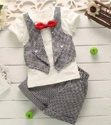 Ostala dečija odeća | Arandjelovac: 1500din Dvodelni set za decake 100% pamuk 9-12m 12-18m 18-24m 2-3god
