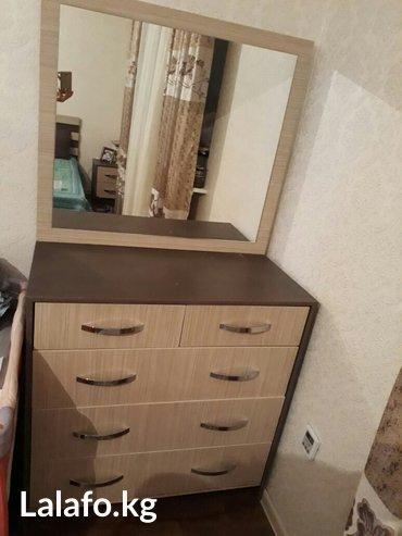 Продаю спальный гарнитур. почти новый. в комплекте кровать, шкаф,камод в Бишкек