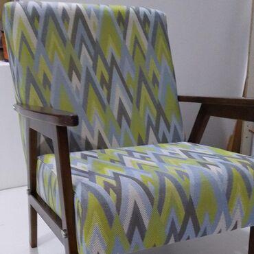 Nameštaj - Valjevo: Retro fotelje se rade po narudzbini, birate boju mebla i boju drveta