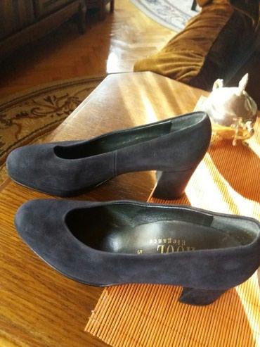 Antilop cizmuce - Srbija: Cipele teget od antilop kože br.37.Dva puta nošene.Bez ikakvih