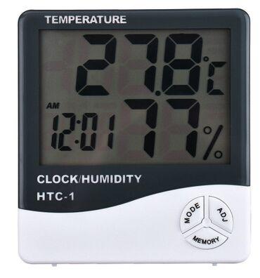 Гигрометр HTC-1 термометр часы будильникОсобенности Измерение
