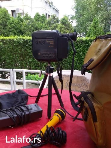 Kamera panasonoc vhsC format sa punjacem i mikrofonom i  torbom. - Beograd