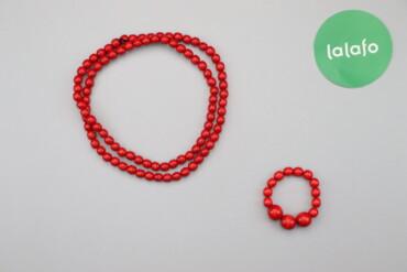 Украшения - Киев: Жіночий комплект біжутерії червоне намисто та браслет    Стан дуже гар