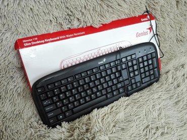 chasy slimstar в Кыргызстан: Клавиатура Genius Slimstar 110 (PS/2) Масловая!Без дела пролежала в