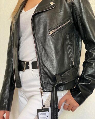 куртка в Кыргызстан: Отличная куртка из натуральной кожи. Модель приталенного силуэта с
