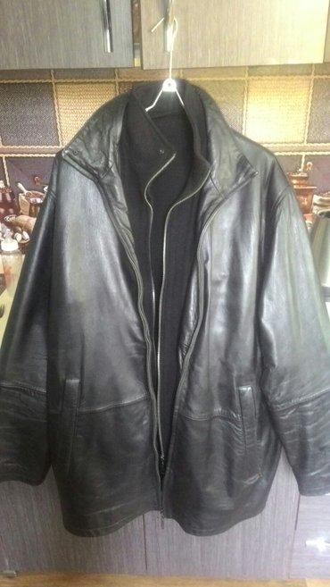 мужская куртка утепленная, стильная, натуральная кожа хорошей выделки  в Бишкек