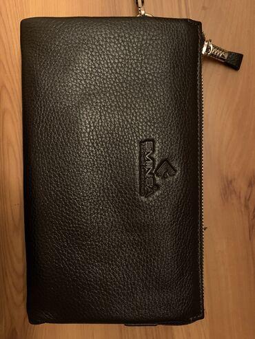Кожаный мужской клатч (портмоне) в идеальном состоянии. Отличный