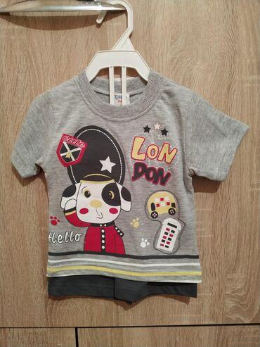 Наборы футболки с шортами для мальчиков 1 года хлопок 100% привезены
