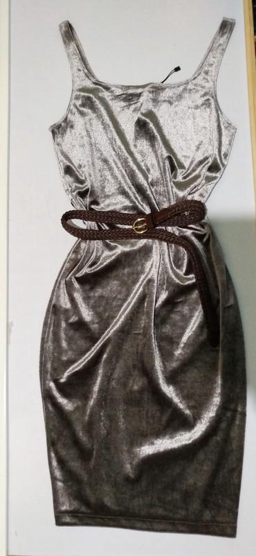 вечерние платья серого цвета в Кыргызстан: Элегантное платье красивого серебристого цвета на стройную девушку