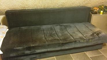Kreveti | Srbija: Krevet na rasklapanje teget plis 200×155