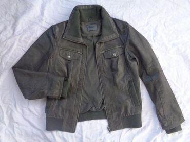 Only ženska kožna jakna LVeoma lepa jakna neobicne sive boje, prava