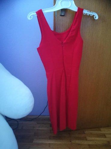 Crvena haljinica na prodaju, nosena 1 put