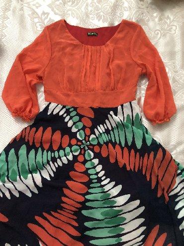 платья длинные на лето в Кыргызстан: Длинное яркое платье на лето, размер 38. Состояние почти новое