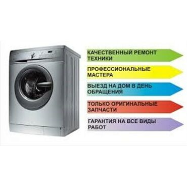 код 0220 бишкек в Кыргызстан: Ремонт | Стиральные машины | С гарантией, С выездом на дом, Бесплатная диагностика