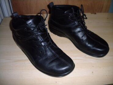 Ženske ECCO crne kožne cipele br. 39 Ženske