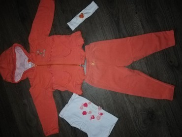 Dečija odeća i obuća - Razanj: Cetvorodelni komplet, velicina 80,ali veci je, moze duze da se nosi