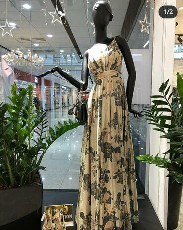 чёрное вечернее платье в пол в Кыргызстан: Шикарное вечернее платье!!!!Одевала 1 разПокупала в cosmobella_classic