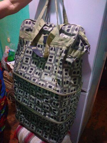 сумка для в Кыргызстан: Сумка дорожная на колесиках в хорошем состоянии из плотного материала