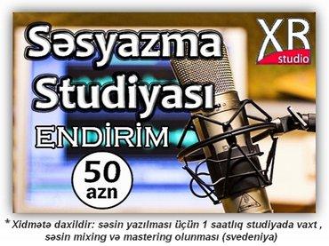 Bakı şəhərində Sesyazma studiyası / XR studio /