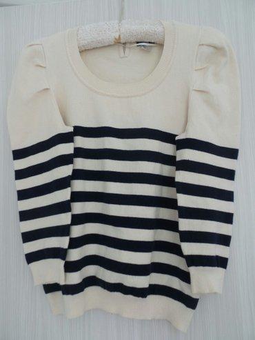 H& m ženski džemper,teger-krem,mornarski,veličina s. Malo je - Belgrade