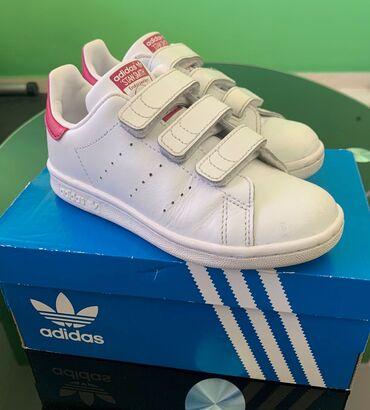 Adidas Stan Smith, νούμερο 29, λευκό-ροζ. Σε πολύ καλή κατάσταση