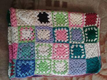 шаль вязанный в Кыргызстан: Продаю вязанное одеялко. Очень удобно брать на прогулку. Размер
