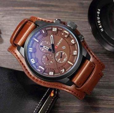 женские часы tissot оригинал в Кыргызстан: Коричневые Мужские Наручные часы Curren
