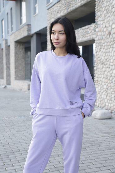 женские платья дешево в Кыргызстан: Женская спортивкаТкань спортивного костюма трехнитка без флиса. Самый
