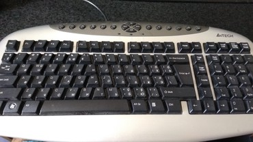 фортепиано на клавиатуре в Азербайджан: Клавиатура A4 Tech KBS-21-R USB (Silver+Black) PS/2 Б/У, Полностью в