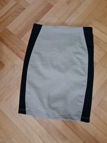 Duzina cm crni - Srbija: Stradivarius suknja, krem crne boje. Velicina S Duzina suknje 60 cm