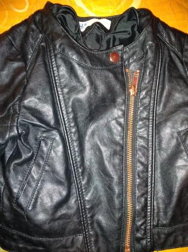 Dečija odeća i obuća - Knjazevac: Kožna jaknica za devojčice vel.92 bez oštećenja HM, zbog modela moja