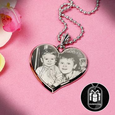 gtx 750 ti купить в Кыргызстан: Сердечки из ювелирной стали с вашим фото или текстом, выполненные