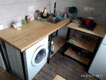 стол-трансформер-акробат в Кыргызстан: Кухонный стол с мойкой и смесителем, стол с жарочной плитой Gefest. Ст