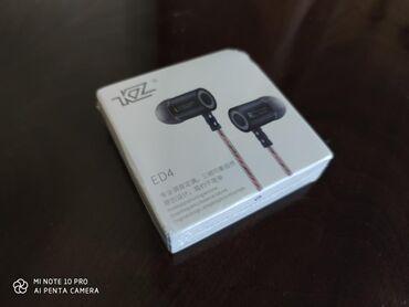 IPod и MP3-плееры - Кыргызстан: KZ ED4 mic отличные проводные с металлическим корпусом наушники с