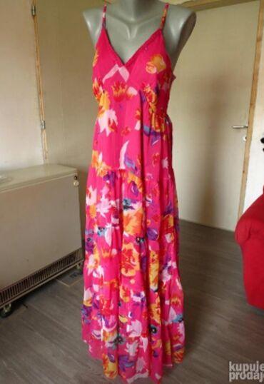 Duks haljina - Kraljevo: Dugacka leprsava haljina MPostavljena haljina sa podesivim bretelama