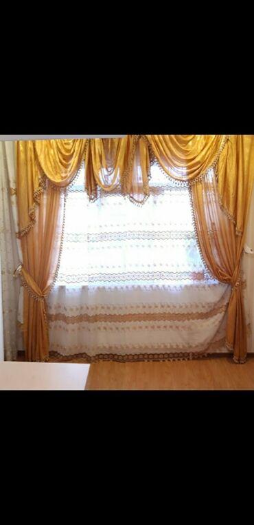 tul - Azərbaycan: Perde satilir. Tul ve dekorlari. Eni 3.80 sm. Uzunu 2.80 sm. Problemi
