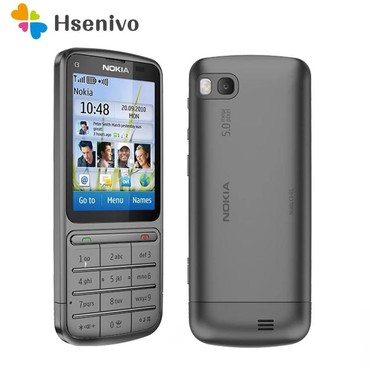 Nokia-640 - Azerbejdžan: C3-01 Orijinal kilidsiz Nokia C3-01 cib telefonu 2.4 Inch 5MP Kamera